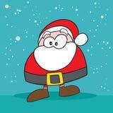 奇怪的圣诞老人 库存照片
