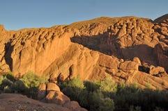 奇怪的岩层在Dades狼吞虎咽,摩洛哥 库存照片