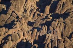 奇怪的岩石塑造摩洛哥 免版税库存图片