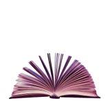 奇怪的桃红色书 免版税库存图片