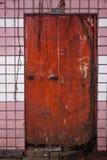 奇怪的蠕动的门道入口 库存图片