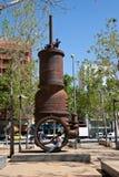 奇怪的雕塑在巴塞罗那 库存照片