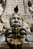奇怪巴洛克式的喷泉 库存照片