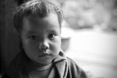 奇恩角照片的儿童姿势 免版税图库摄影