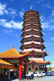奇恩角的Swee参天的塔使寺庙陷下 免版税库存照片