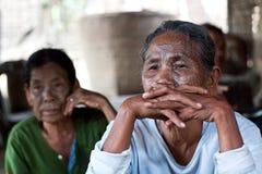 奇恩角部落,缅甸 免版税库存图片