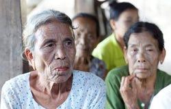 奇恩角部落tatoed妇女,缅甸 图库摄影