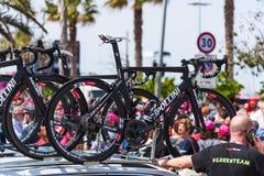 奇波利尼NK1K在100th转帐服务d `意大利营业日骑自行车 库存照片