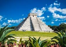 奇琴伊察,其中一个被参观的考古学站点, Mexi 库存图片