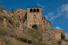 奇维塔二巴尼奥雷焦,它是一个小镇在维泰博省在意大利 库存照片