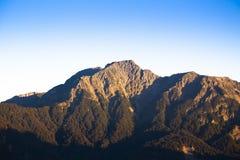 奇莱鼻峰顶著名山  库存图片