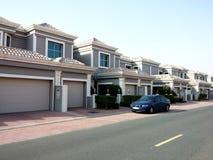 奇迹别墅Falconcity在Dubailand迪拜阿拉伯联合酋长国 免版税图库摄影