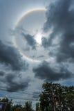 奇迹圈子在太阳附近盘旋下午在泰国 库存照片