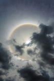 奇迹圈子在太阳附近盘旋下午在泰国 免版税库存图片