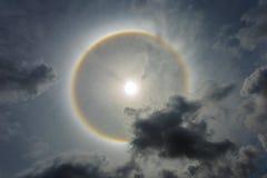 奇迹圈子在太阳附近盘旋下午在泰国 免版税图库摄影
