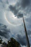 奇迹圈子在太阳附近盘旋下午在泰国 库存图片