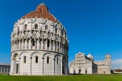 奇迹正方形在比萨在天之前 免版税库存图片