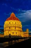 奇迹正方形,比萨,托斯卡纳,意大利 免版税库存图片