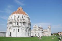 奇迹正方形,比萨,托斯卡纳-意大利 库存照片