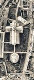 奇迹正方形,比萨 在夏天morni的向下鸟瞰图 免版税库存照片