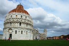 奇迹的领域在比萨,意大利 库存图片