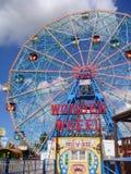 奇迹轮子,科尼岛,布鲁克林NY 库存照片