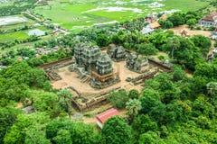 奇迹Phnom Krom Phnom Bakheng吴哥窟暹粒市柬埔寨王国  免版税库存图片