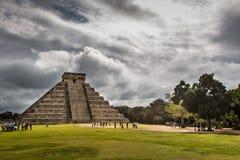 奇琴伊察,金塔纳罗奥州,墨西哥 在坎昆附近的玛雅废墟 库存照片