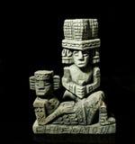 奇琴伊察:玛雅废墟石头 免版税库存图片