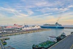 奇维塔韦基亚港  免版税库存图片