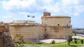 奇维塔韦基亚,意大利- 2017年4月25日:在堡垒Michelan的看法 库存图片