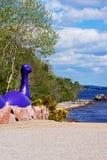 奈斯湖妖怪形象在尼斯湖在苏格兰 免版税库存图片