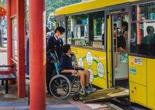 奈良圈公共汽车 图库摄影