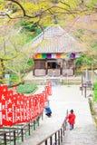 奈良寺庙在春天 图库摄影