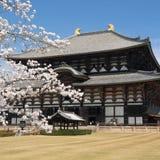 奈良寺庙todaiji 图库摄影