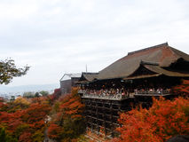 奈良,日本11月23日:很多人参观清水寺Te 免版税库存图片
