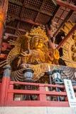 奈良,日本- 2012年3月12日:Todaiji寺庙(地点伟大 免版税库存照片