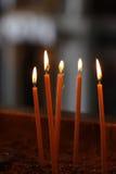奉献灼烧的蜡烛 库存图片