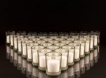 奉献的蜡烛台 库存图片