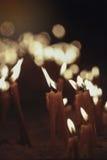 奉献的蜡烛 免版税库存照片