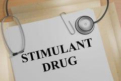 兴奋剂药物的医疗概念 库存例证