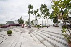 奎伊小游艇船坞海湾在新加坡 库存图片