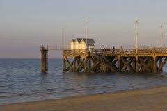 奎伊码头在阿尔雄,法国 库存照片