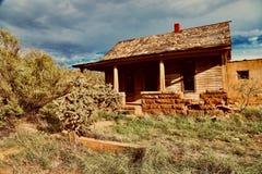 奎尔沃NM,议院在鬼城 库存照片
