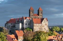 奎德林堡城堡在奎德林堡 免版税库存图片