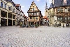 奎德林堡,德国 库存图片