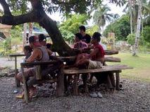 奎松市,菲律宾的当地人 库存图片