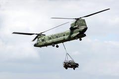 契努克族直升机运输 免版税库存照片