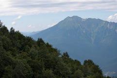 索契山麓小丘的山风景  图库摄影