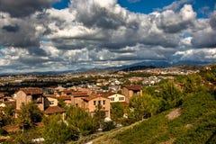 契约小山ladera大农场 库存图片